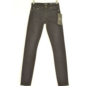 Strom jeans 24 x 30 NWT black ankle High Rise Skin